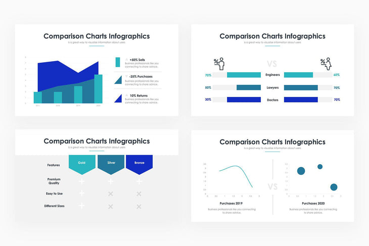 Comparison Charts 2 PowerPoint Template-PowerPoint Template, Keynote Template, Google Slides Template PPT Infographics -Slidequest