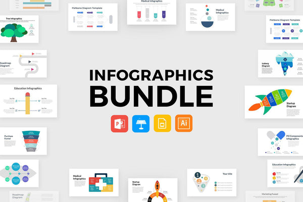 INFOGRAPHICS PowerPoint + Keynote + Google Slides + Illustrator Bundle