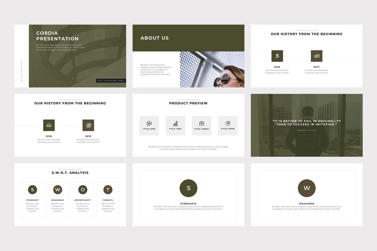Cordia PowerPoint Template