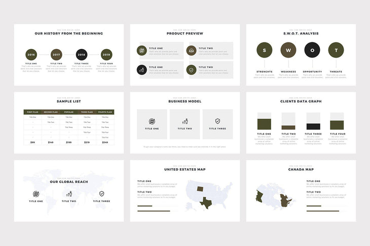 Brown Minimal PowerPoint Template - TheSlideQuest