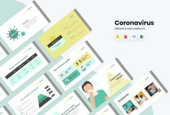 COVID Stats Presentation Template-PowerPoint Template, Keynote Template, Google Slides Template PPT Infographics -Slidequest