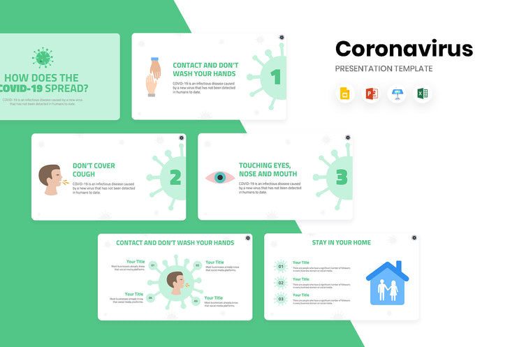 How Does the COVID 19 Spread Presentation Template