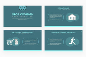 Stop COVID 19 from Spreading Presentation Template