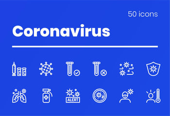 Coronavirus Icons by Slidequest