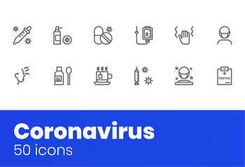 Coronavirus Icons 2 by Slidequest