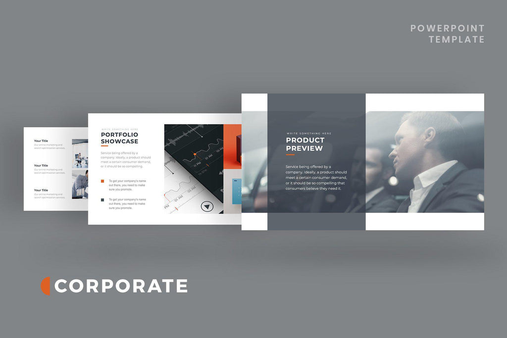 Corporate Pitch Deck PowerPoint Template - TheSlideQuest