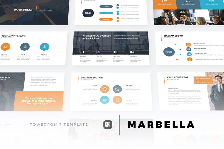 Marbella PowerPoint Template - TheSlideQuest