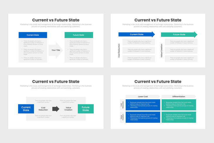 Current VS Future State Infographics Template