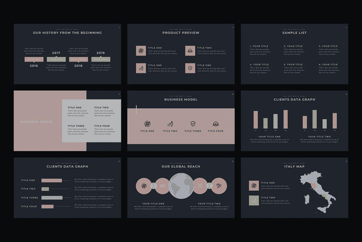 Monsieur PowerPoint Template - TheSlideQuest