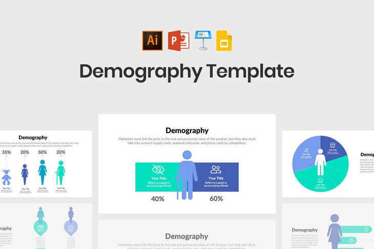 Demography Infographics-PowerPoint Template, Keynote Template, Google Slides Template PPT Infographics -Slidequest