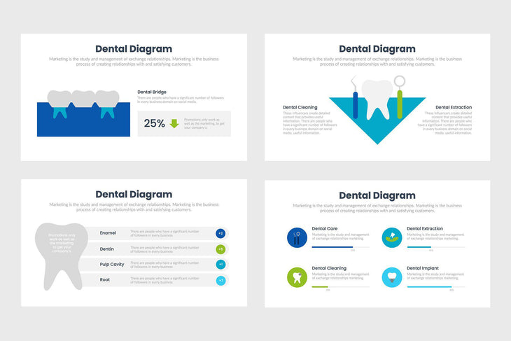 Dental Infographics Template PowerPoint Keynote Google Slides PPT KEY GS