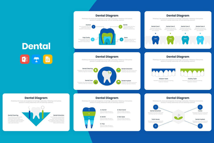 Dental Infographics Template-PowerPoint Template, Keynote Template, Google Slides Template PPT Infographics -Slidequest