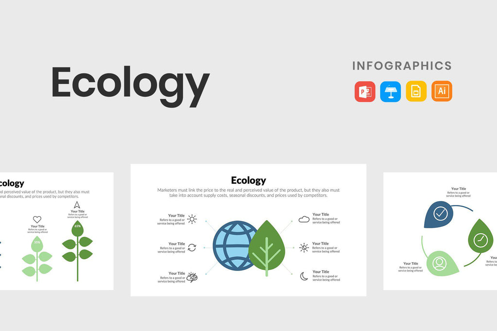 Ecology Vector Infographics Template