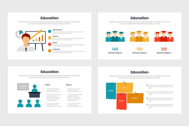 Education Diagrams Infographics Template PowerPoint Keynote Google Slides PPT KEY GS