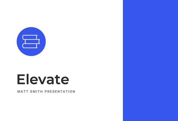 Elevate Education Keynote Template