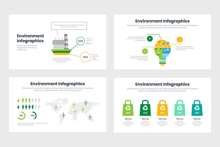 Environment Infographics Template PowerPoint Keynote Google Slides PPT KEY GS