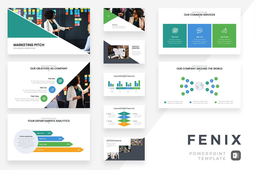 Fenix Marketing Pitch PowerPoint Template - TheSlideQuest