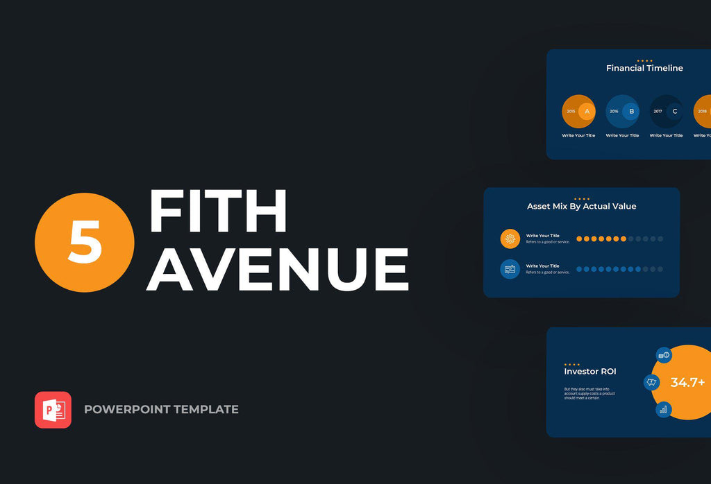 Fifth Avenue Finance PowerPoint Template