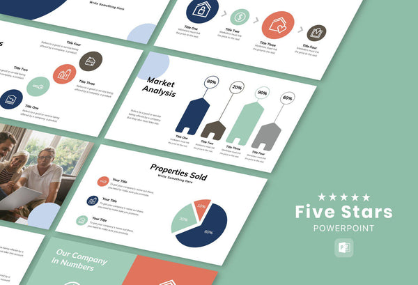 Five Stars Real Estate PowerPoint Template