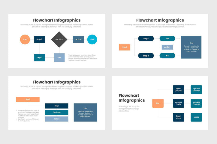 Flowchart Infographics Template PowerPoint Keynote Google Slides PPT KEY GS