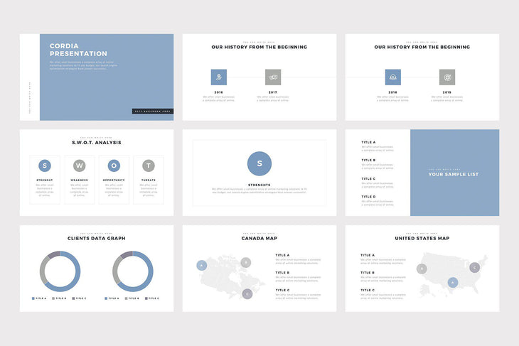 Cordia PowerPoint Template - TheSlideQuest