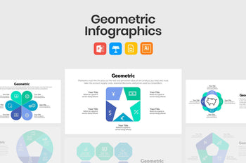 Geometric Infographics for Presentations-PowerPoint Template, Keynote Template, Google Slides Template PPT Infographics -Slidequest