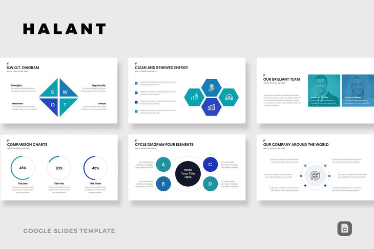 Halant Google Slides-PowerPoint Template, Keynote Template, Google Slides Template PPT Infographics -Slidequest