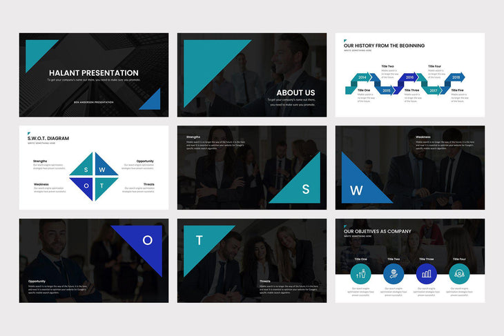 Halant PowerPoint Template - TheSlideQuest