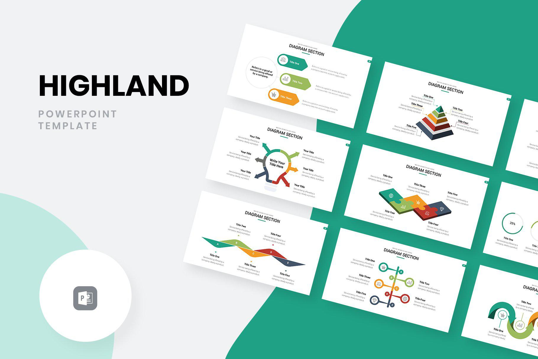 Highland Marketing Pitch Deck PowerPoint Template