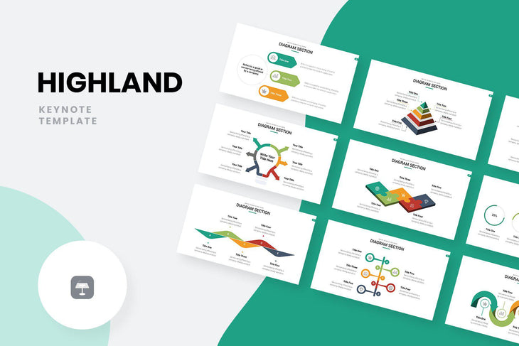 Highland Marketing Pitch Deck Keynote Template-PowerPoint Template, Keynote Template, Google Slides Template PPT Infographics -Slidequest