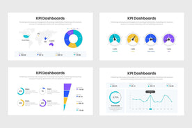 KPI Dashboards-PowerPoint Template, Keynote Template, Google Slides Template PPT Infographics -Slidequest
