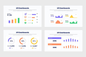 KPI Dashboards Diagrams Charts Infographics Template PowerPoint Keynote Google Slides PPT KEY GS