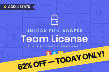 Team License (4 Seats) — FULL ACCESS + FREE Lifetime Updates — All Products Included-PowerPoint Template, Keynote Template, Google Slides Template PPT Infographics -Slidequest