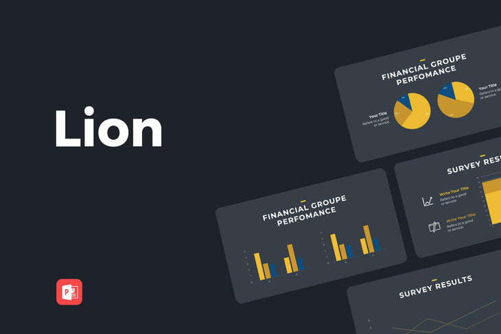 Lion Finance PowerPoint Template