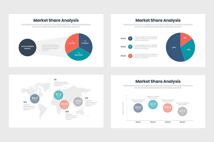 Market Share Analysis-PowerPoint Template, Keynote Template, Google Slides Template PPT Infographics -Slidequest
