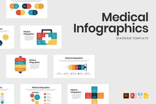 Load image into Gallery viewer, Medical Infographics Template - TheSlideQuest