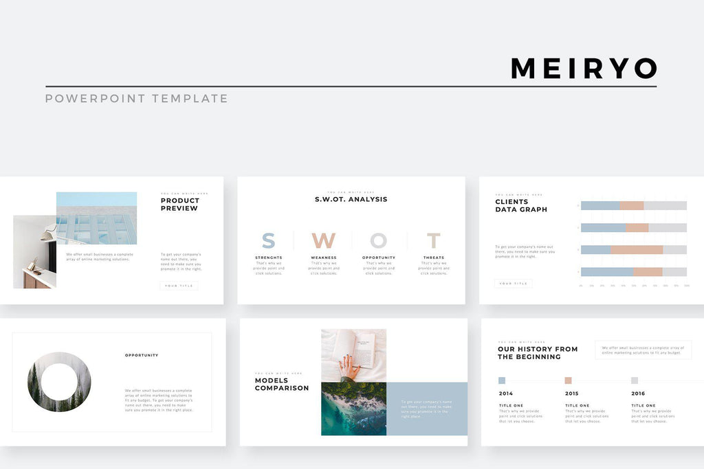 Meiryo Minimalist Powerpoint Template Slidequest