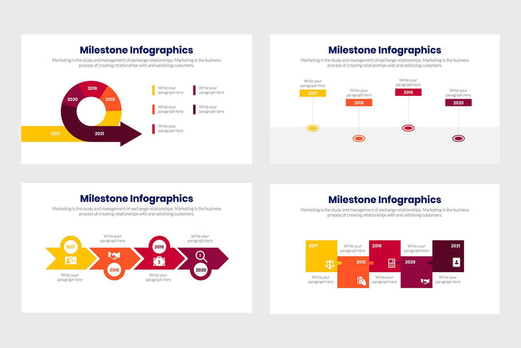 Milestone Infographics-PowerPoint Template, Keynote Template, Google Slides Template PPT Infographics -Slidequest