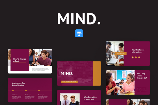 Mind Education Keynote Template