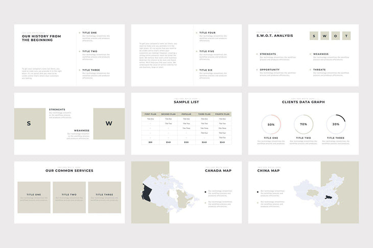 Boneti Minimalist PowerPoint Template - TheSlideQuest