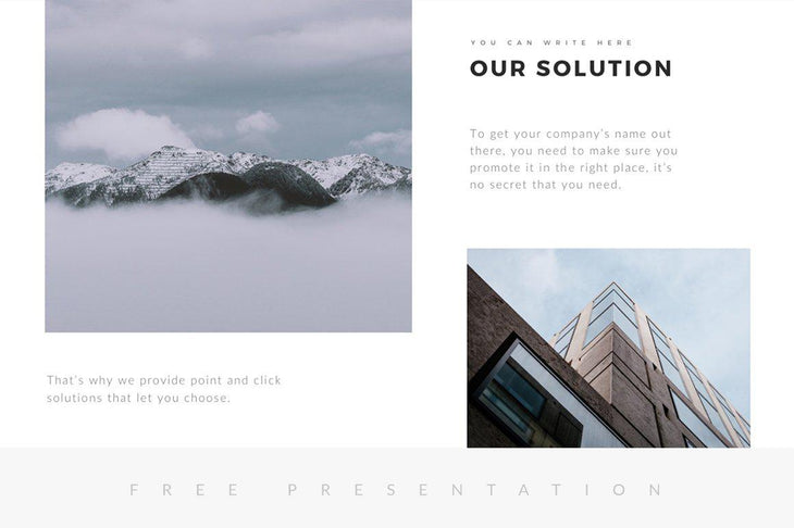 Montana Minimal Free Presentation Template - TheSlideQuest