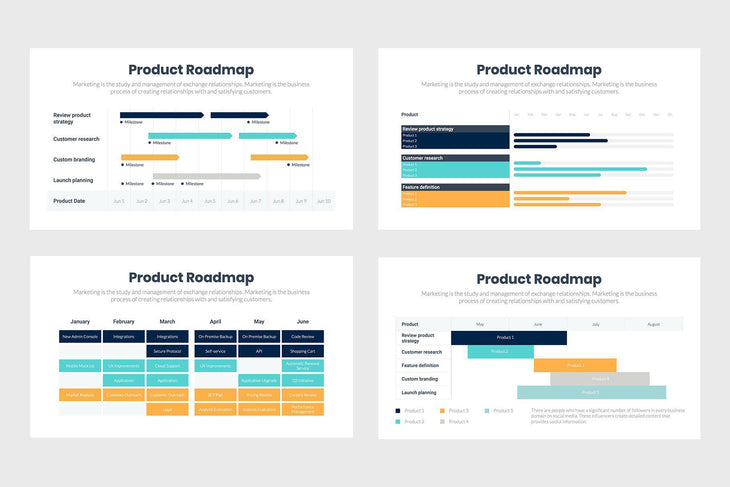 Product Roadmap-PowerPoint Template, Keynote Template, Google Slides Template PPT Infographics -Slidequest