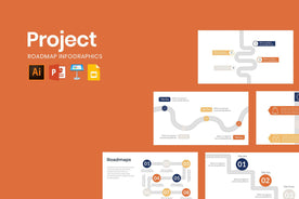 Project Roadmap Infographics - TheSlideQuest
