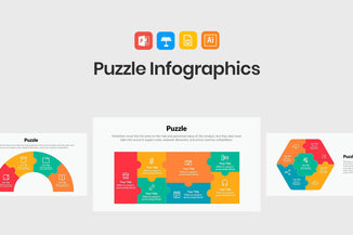 Puzzle Infographics for PowerPoint