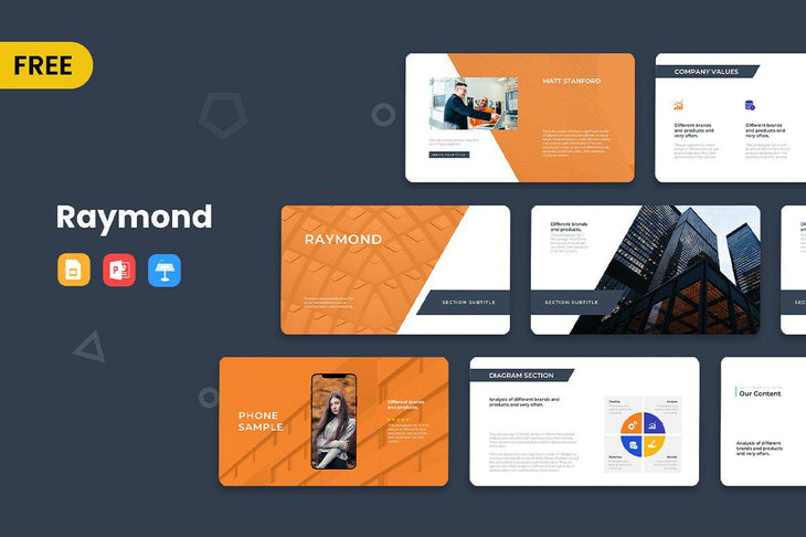 Raymond Free Presentation Template-PowerPoint Template, Keynote Template, Google Slides Template PPT Infographics -Slidequest