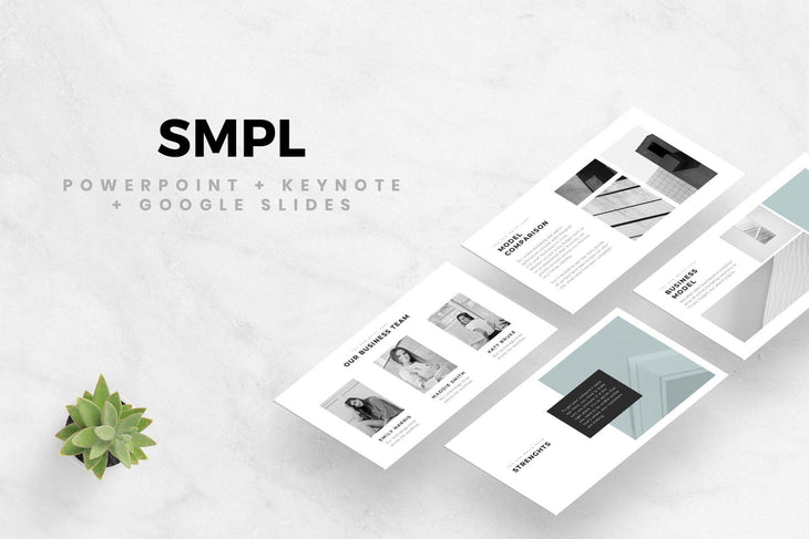 MINIMAL PowerPoint Keynote Google Slides Bundle