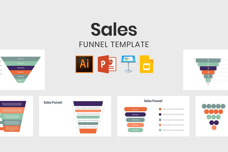 Sales Funnel Template - TheSlideQuest