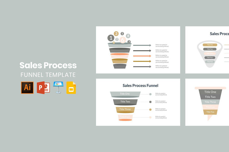 Sales Process Funnel Template - TheSlideQuest