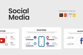 Social Media Vector Infographics Template