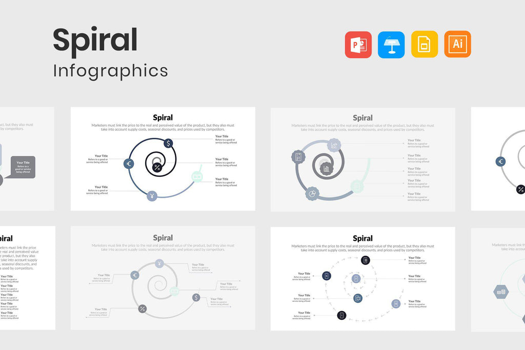 Spiral Infographics Template